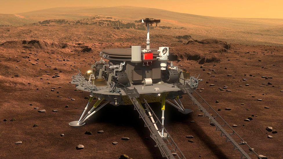 Китайски космически апарат успешно се приземи на повърхността на Марс – снимки, видео